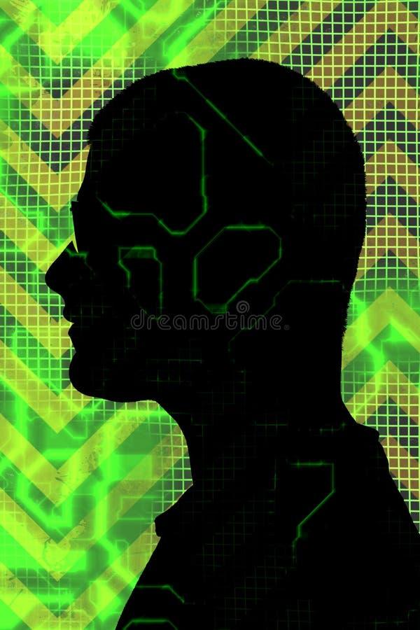 mężczyzna cyfrowa sylwetka ilustracja wektor