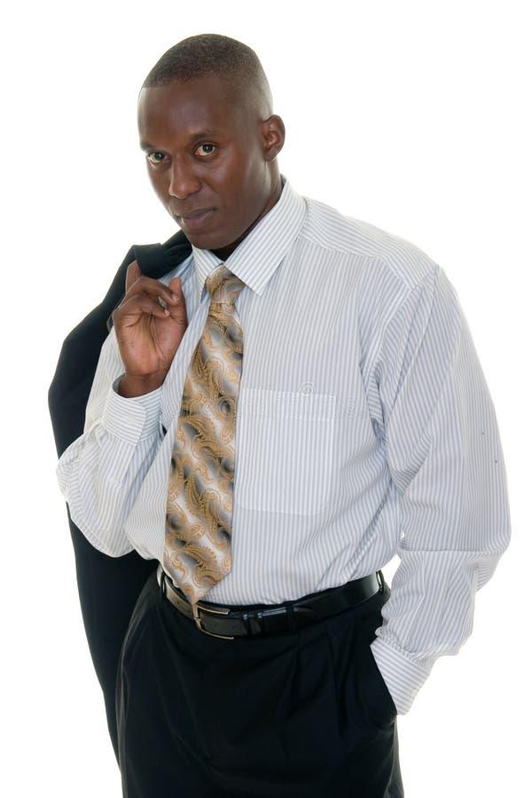 mężczyzna czarny biznesowy przypadkowy kostium zdjęcie stock