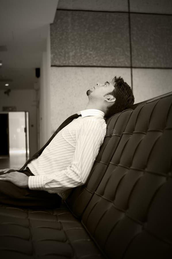 mężczyzna czekanie zdjęcie royalty free