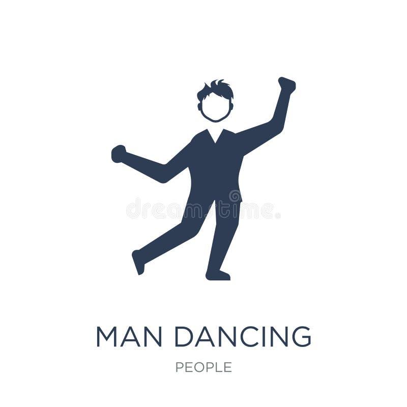 Mężczyzna dancingowa ikona  ilustracji
