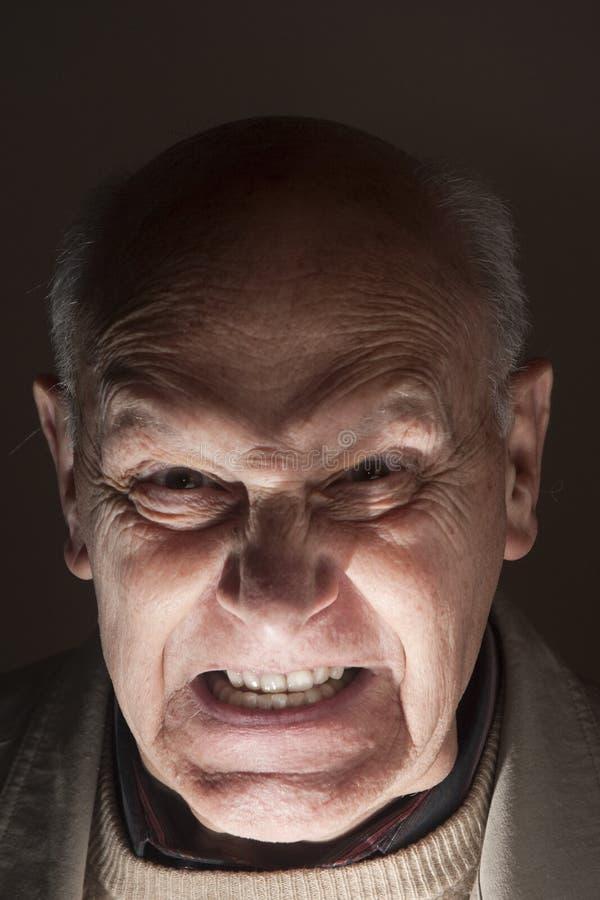 mężczyzna desperacki szaleńczy senior zdjęcie stock