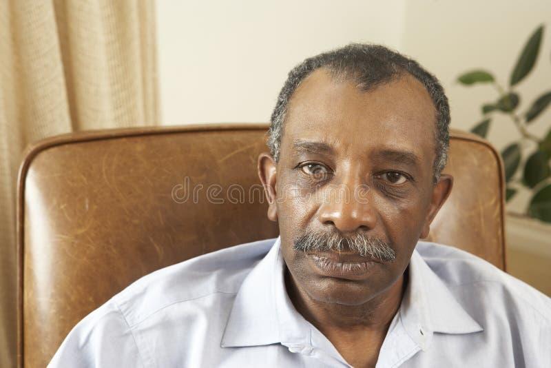 mężczyzna domowy senior fotografia royalty free