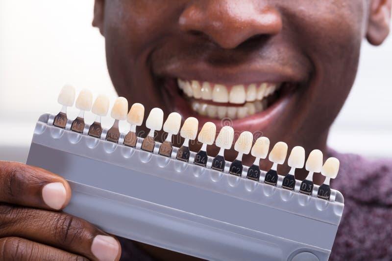 Mężczyzna Dopasowywa cienie zęby zdjęcia stock