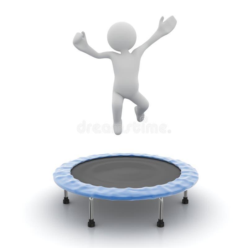 Mężczyzna doskakiwanie na trampoline ilustracja wektor