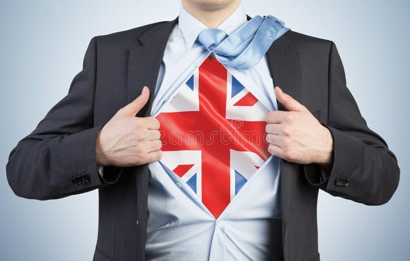 Mężczyzna drzeje koszula zdjęcia stock