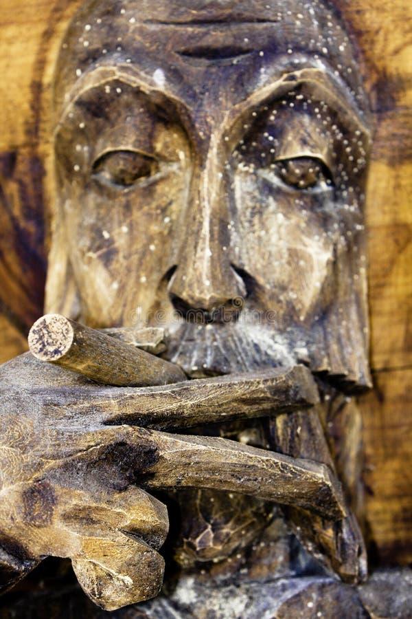 mężczyzna dymienie fotografia royalty free