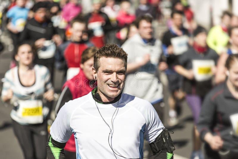 Mężczyzna działający maraton fotografia stock