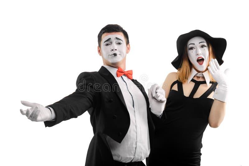 Mężczyzna flirtuje z kobietą obraz royalty free