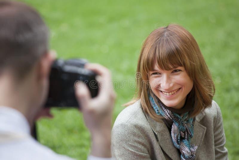 mężczyzna fotografia bierze kobiety obraz stock