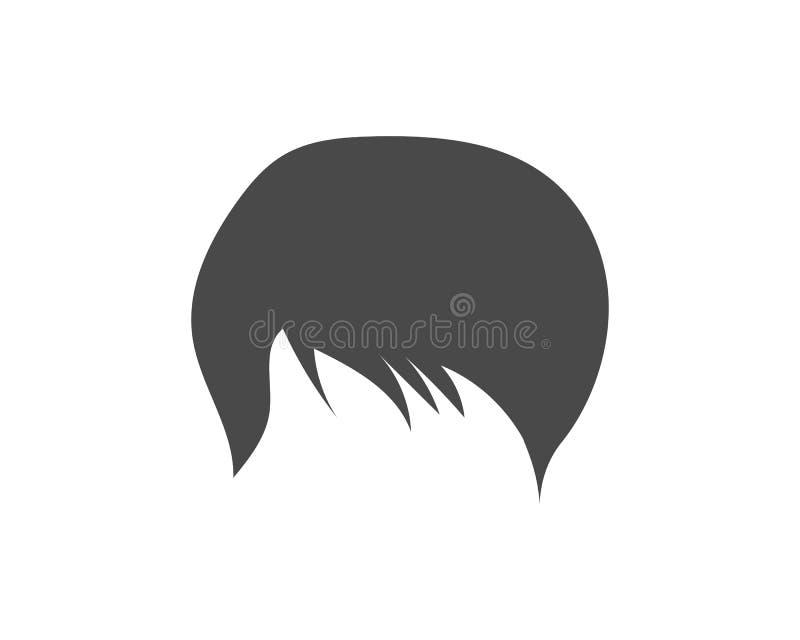 mężczyzna fryzury elementu ikony wektoru ilustracja ilustracji