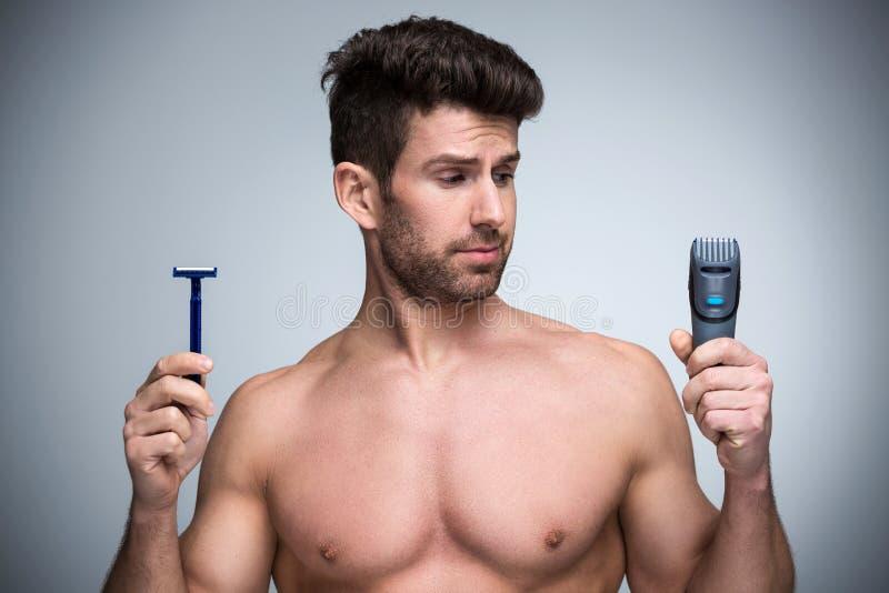 mężczyzna golenie obraz royalty free