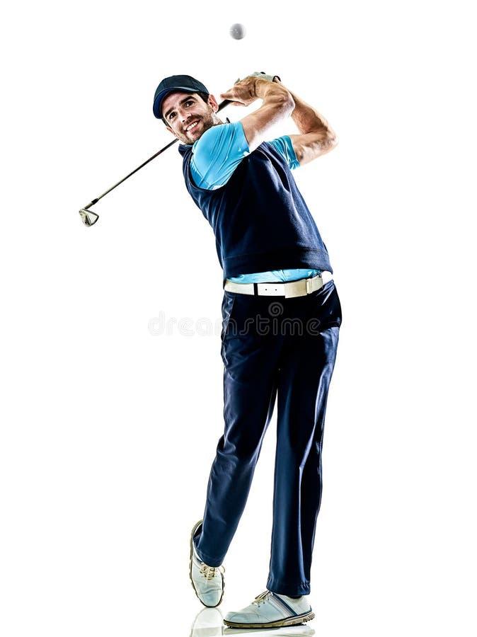 Mężczyzna golfista grać w golfa witki tło fotografia royalty free