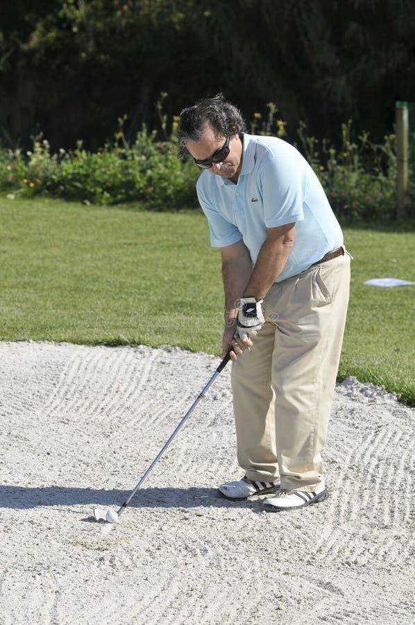mężczyzna golfowy sport fotografia royalty free