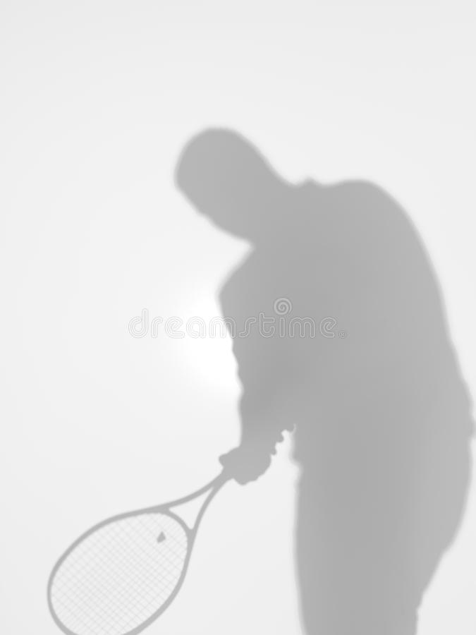 Mężczyzna gracz w tenisa, forehand, sylwetka zdjęcia stock