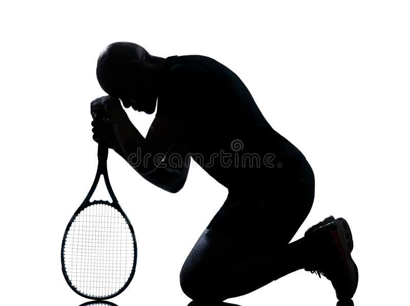 mężczyzna gracza tenis fotografia royalty free