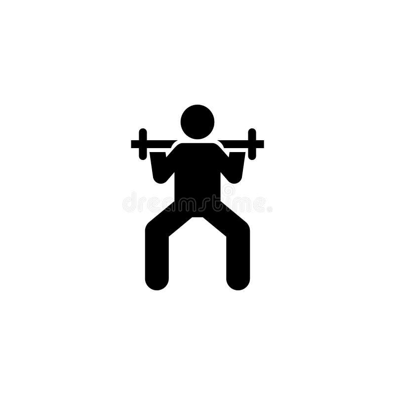 Mężczyzna, gym, mięsień, sprawność fizyczna, ćwiczenie ikona Element gym piktogram Premii ilo?ci graficznego projekta ikona podpi royalty ilustracja