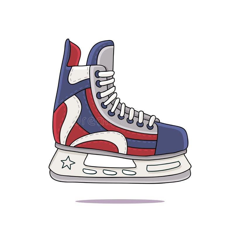mężczyzna hokejowe łyżwy s ilustracji