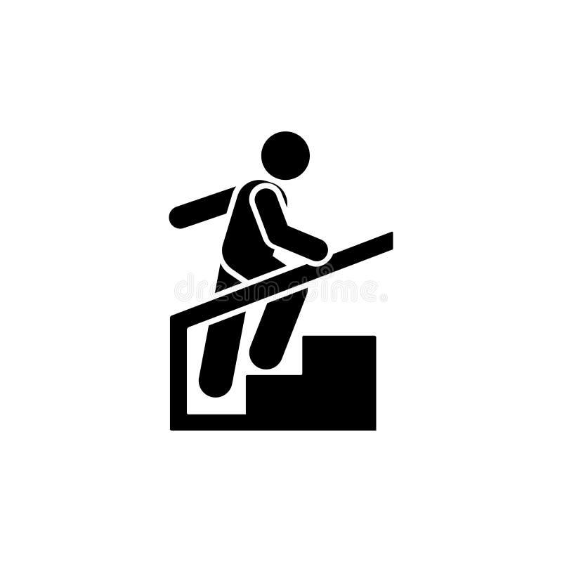 Mężczyzna, hotel, pokój, bieg ikona Element hotelowa piktogram ikona Premii ilo?ci graficznego projekta ikona znaki i symbole ink ilustracja wektor