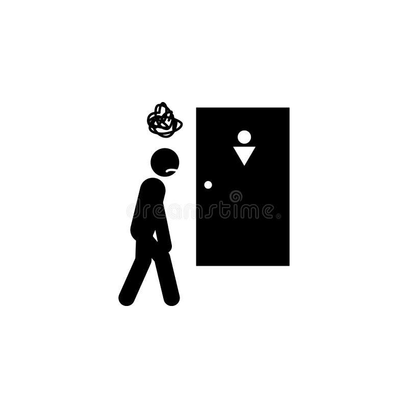 mężczyzna, iść, siuśki ikona Element istota ludzka bólu ikona dla mobilnych pojęcia i sieci apps Szczegółowy mężczyzna, iść, siuś ilustracja wektor