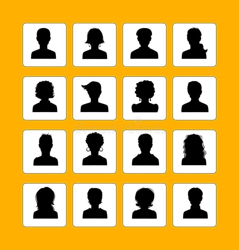 Mężczyzna i kobiet avatars ilustracji
