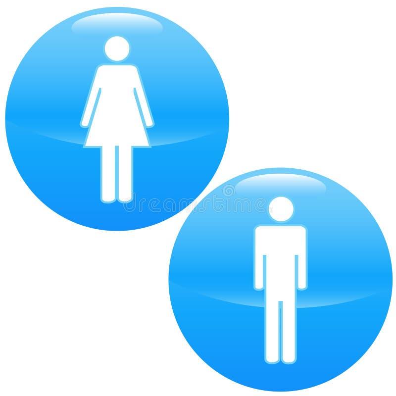 Mężczyzna i kobiet logo ilustracji