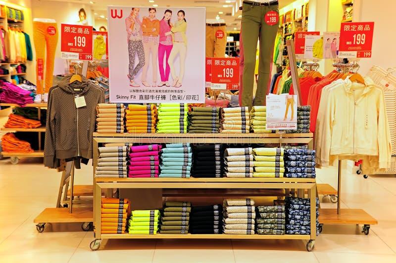 Uniqlo mody sklep, Hong kong zdjęcia stock