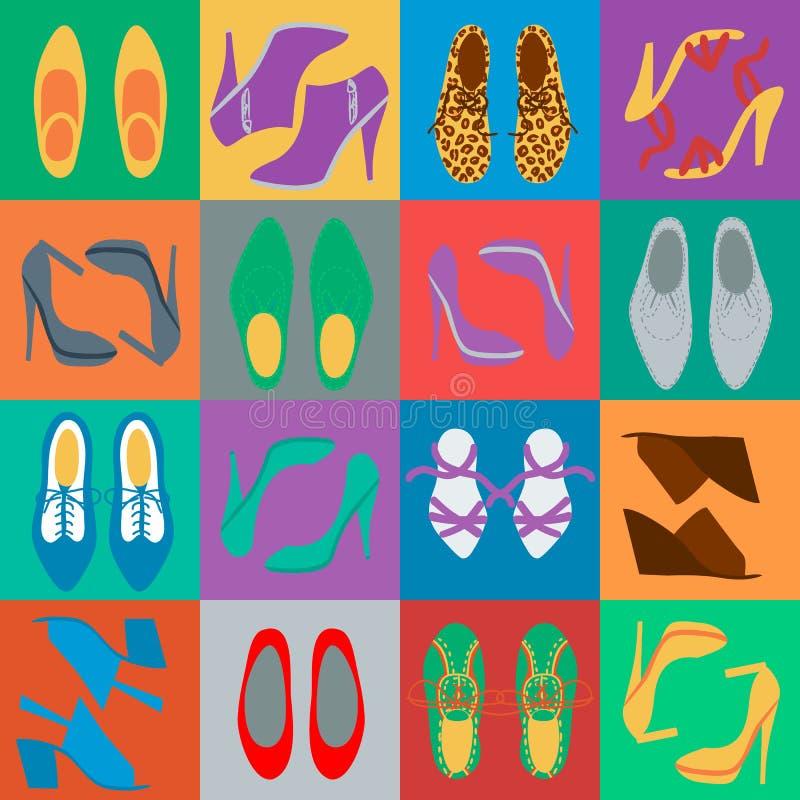 Mężczyzna i kobieta buty ilustracji
