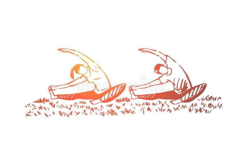 M??czyzna i kobieta robi wp ilustracja wektor