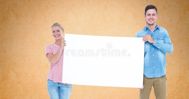 Mężczyzna i kobieta trzyma pustego rachunku deskę zdjęcia stock