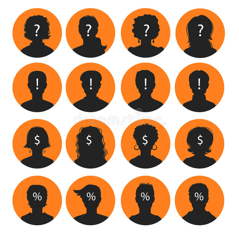 Mężczyzna i kobiety avatars ilustracja wektor