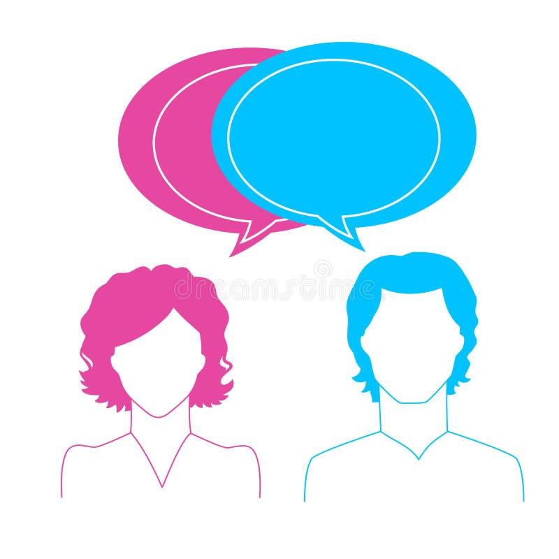 Mężczyzna i kobiety avatars ilustracji