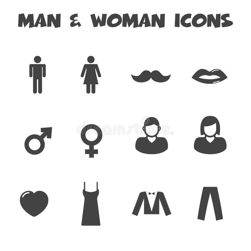 Mężczyzna i kobiety ikony