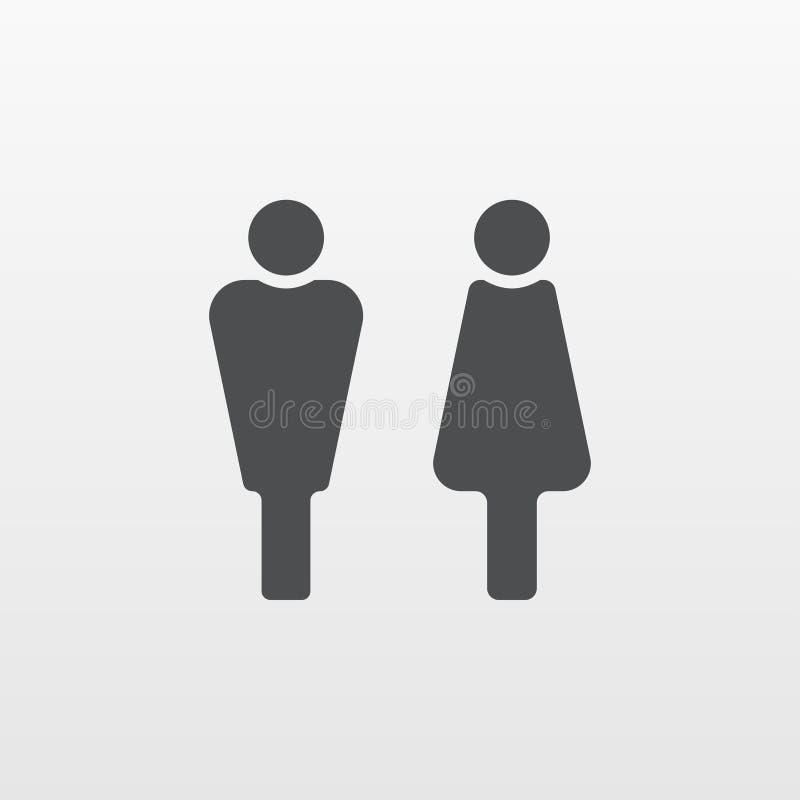 Mężczyzna i kobiety ikony wektor Płaski osoba symbol odizolowywający na białym tle Modny interneta pojęcie royalty ilustracja