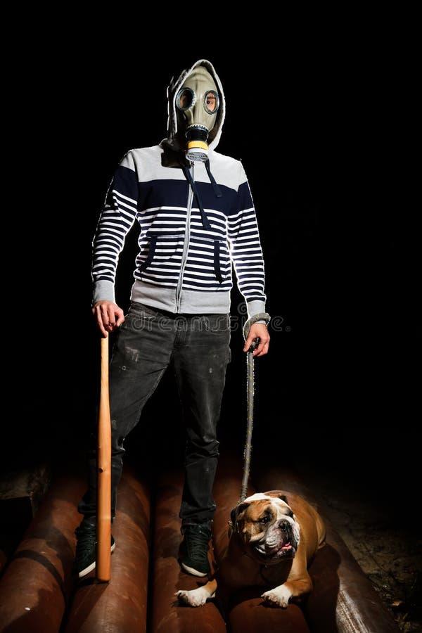 Mężczyzna i pies obrazy royalty free