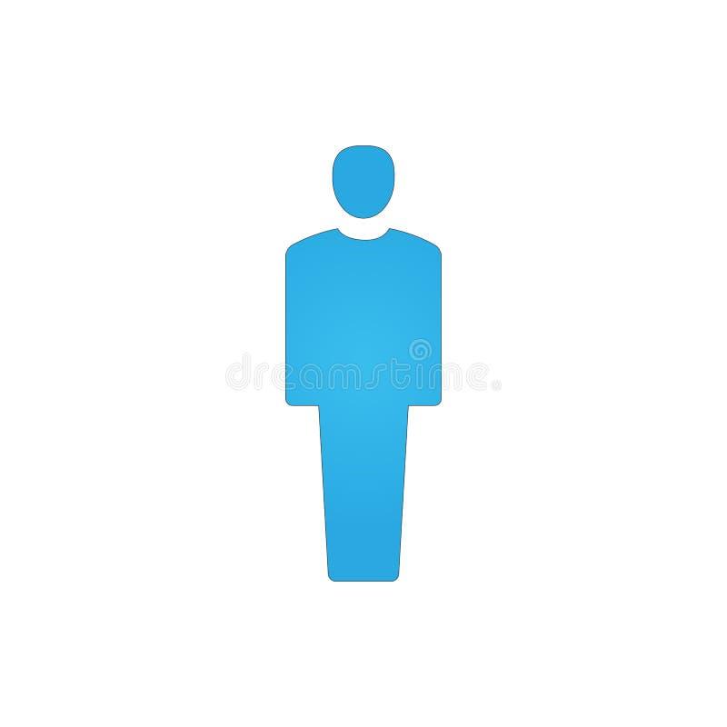 mężczyzna ikony wektoru znaka ilustracja odizolowywający symbol ilustracja wektor