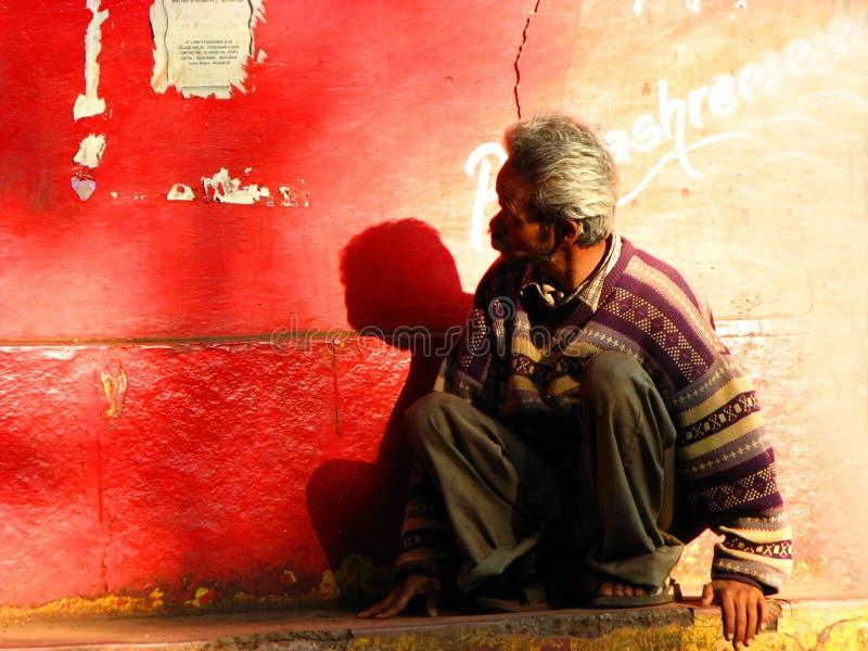 mężczyzna indyjska bieda zdjęcie stock