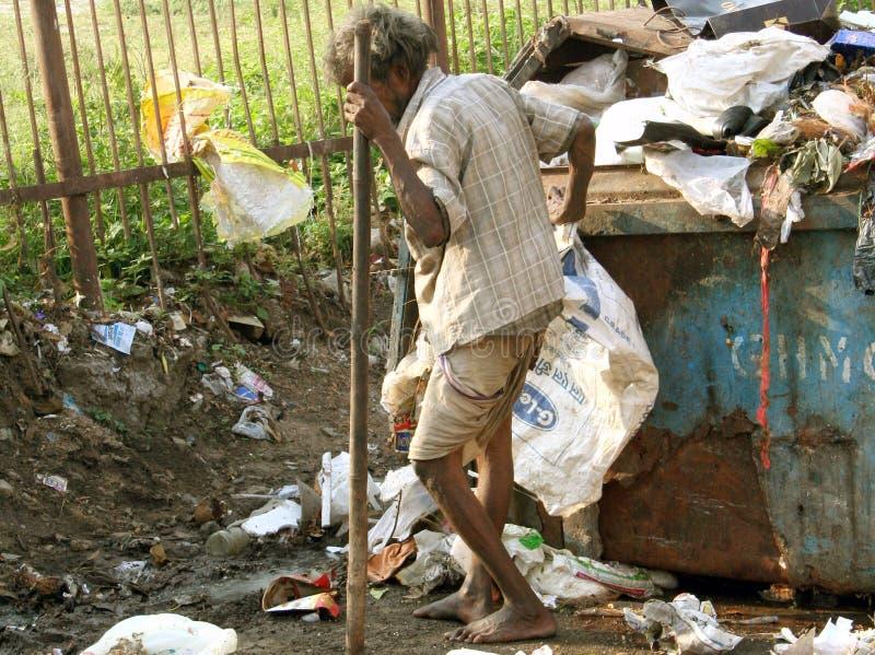 mężczyzna indyjska bieda obrazy stock