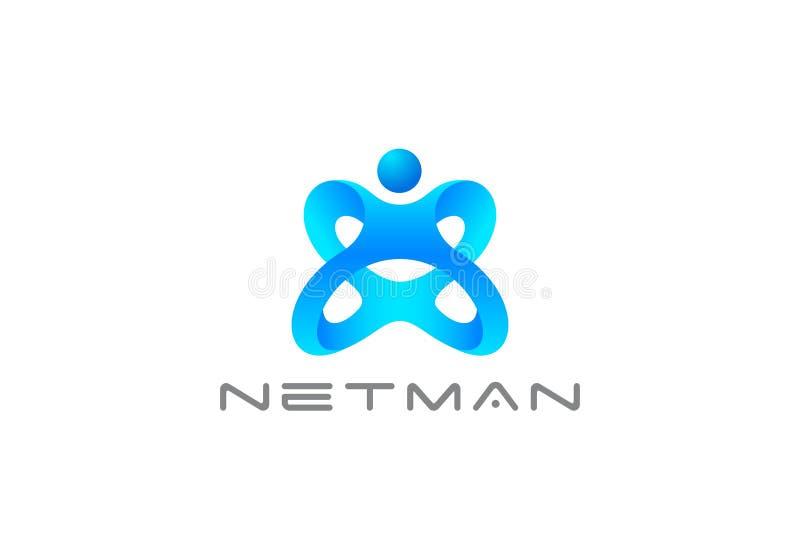 Mężczyzna jako listu X logo projekta sporta sprawności fizycznej Gym Przecinającego klubu szablonu faborku stylu pojęcia wektorow ilustracji