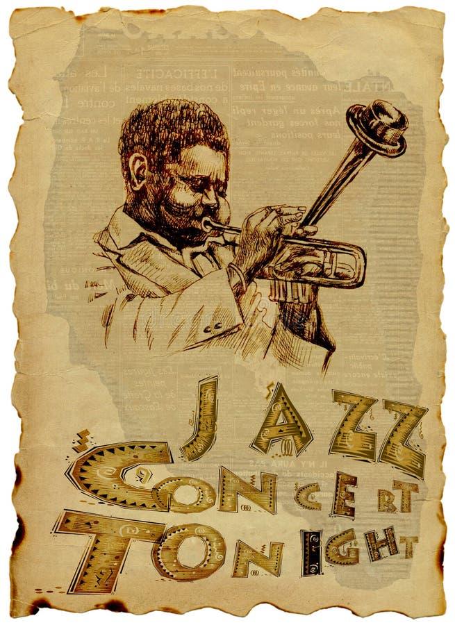 mężczyzna jazzowa trąbka ilustracji