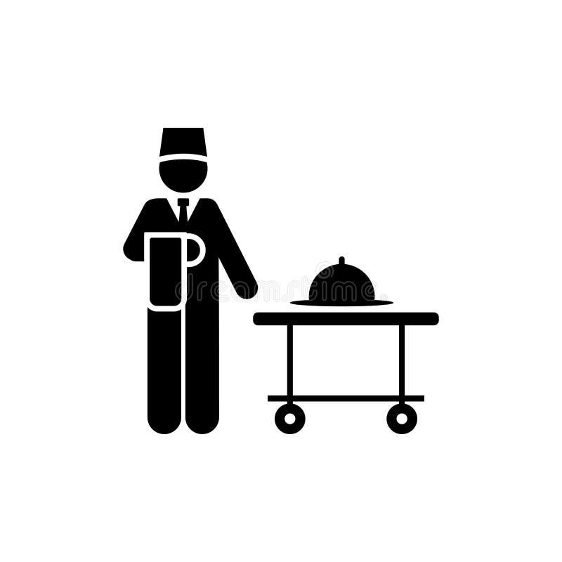 Mężczyzna, jedzenie, usługi, hotelowa ikona Element hotelowa piktogram ikona Premii ilo?ci graficznego projekta ikona podpisz sym ilustracja wektor