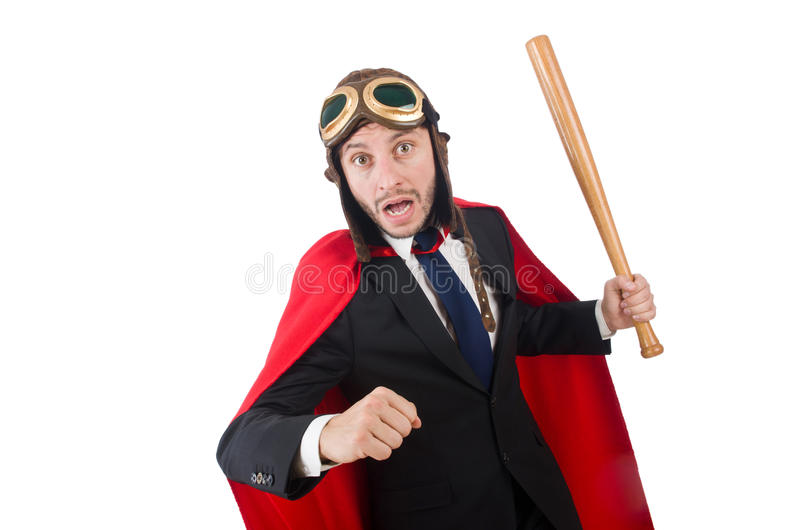 Mężczyzna jest ubranym czerwoną odzież zdjęcia royalty free