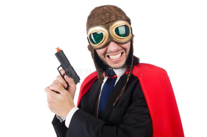Mężczyzna jest ubranym czerwoną odzież fotografia royalty free