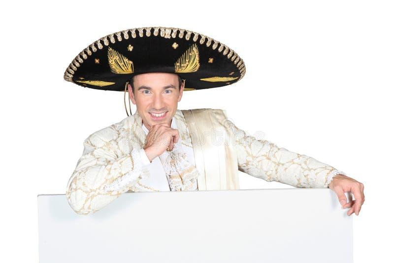 Mężczyzna jest ubranym sombrero obrazy royalty free