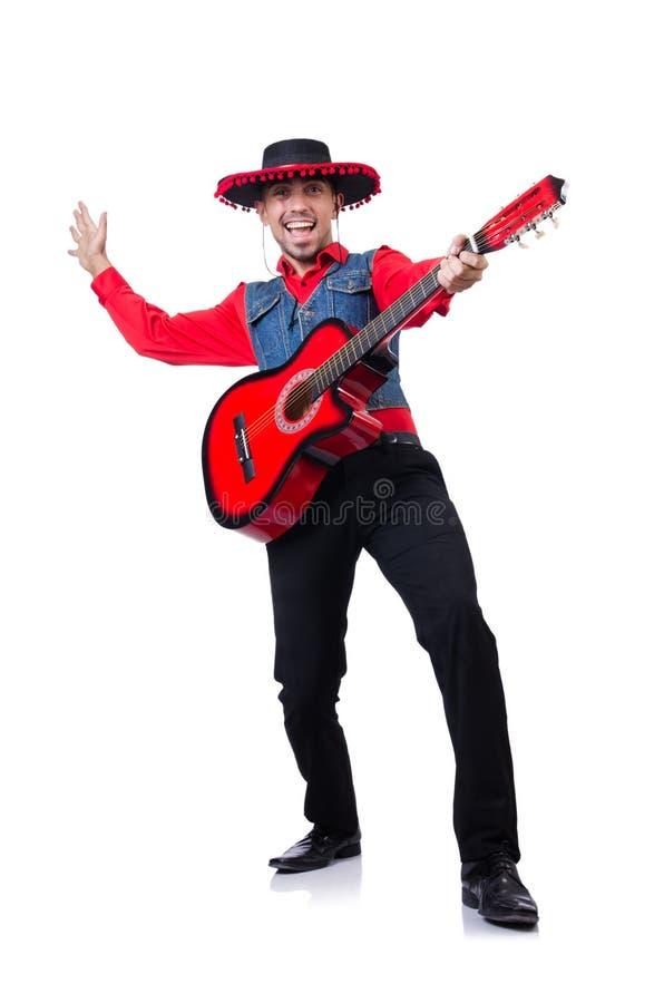 Mężczyzna jest ubranym sombrero obrazy stock
