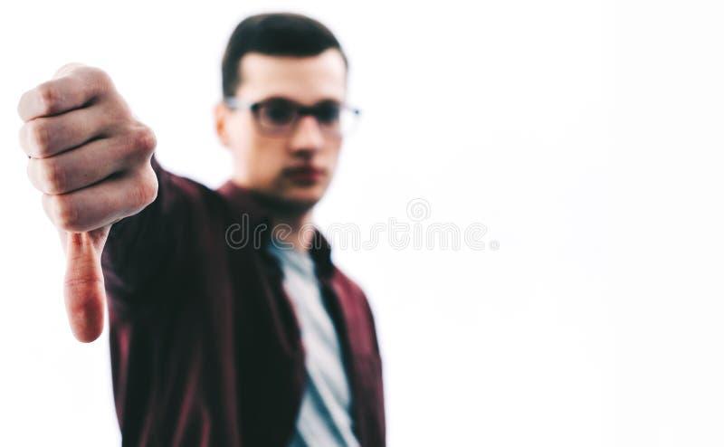 Mężczyzna kciuka puszek zdjęcia royalty free