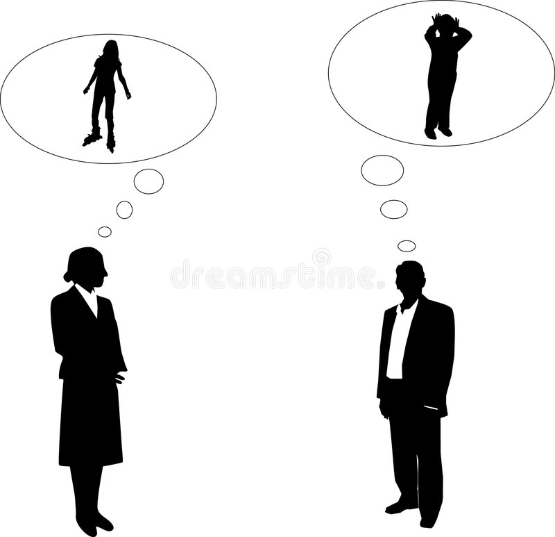 mężczyzna kobieta royalty ilustracja
