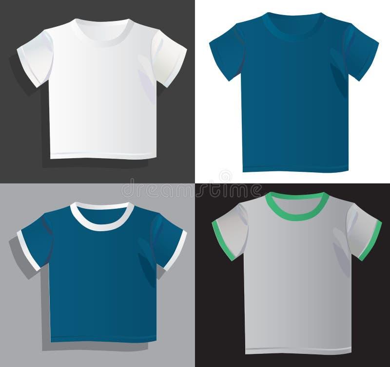 Mężczyzna koszulek szablony ilustracja wektor
