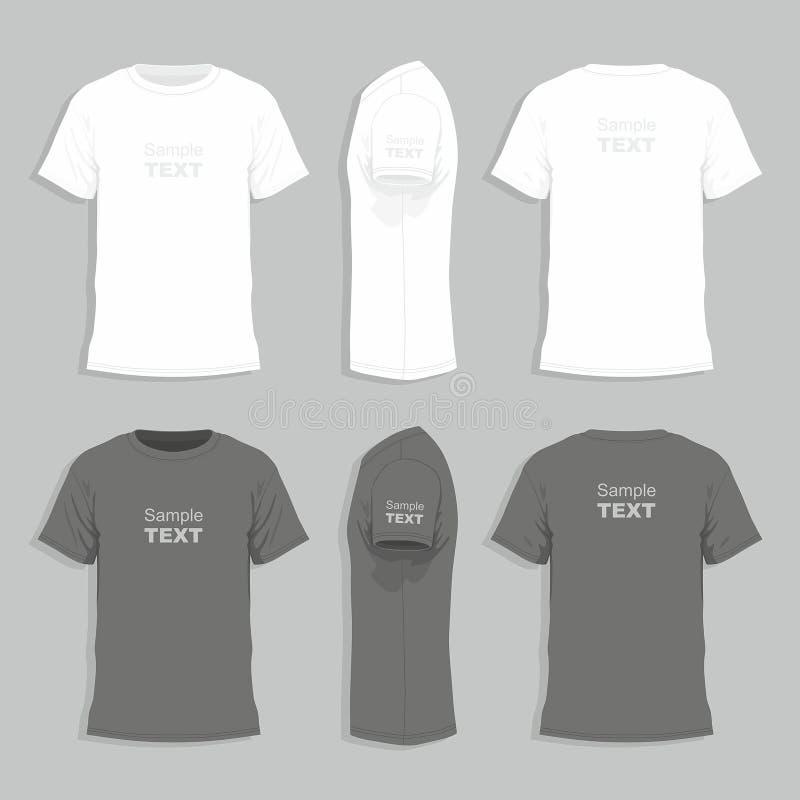 Mężczyzna koszulki projekta szablon ilustracji