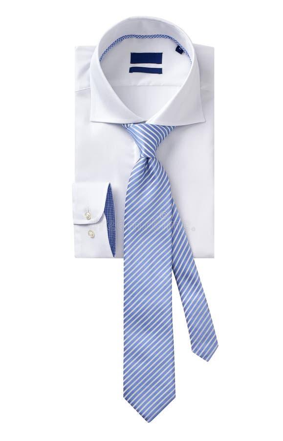 Mężczyzna koszulowa odzież z krawatem odizolowywającym na bielu zdjęcie royalty free