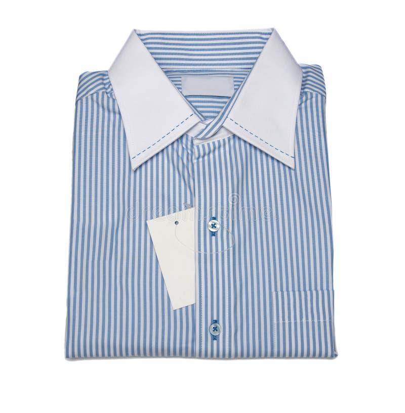 Mężczyzna koszulowi z linia wzorem i błękitnym kolorem obrazy stock